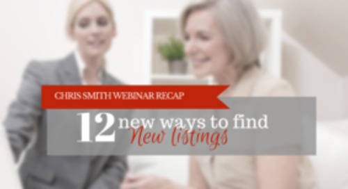 Chris Smith's 12 foolproof tactics to drive in new listing leads
