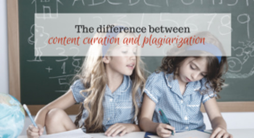 Difference between curating content and plagiarizing