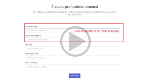 Video: How to sign up for your professional dashboard