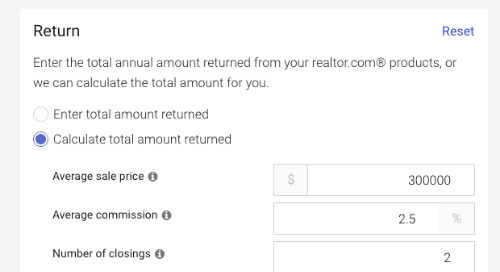 Calculate ROI for your realtor.com® leads