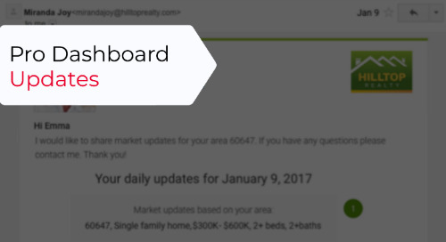 Agent Dashboard Updates, 4/1/2019