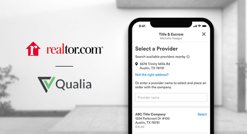 Qualia and realtor.com Streamline Agents' Workflow and Bring Visibility to Title and Escrow