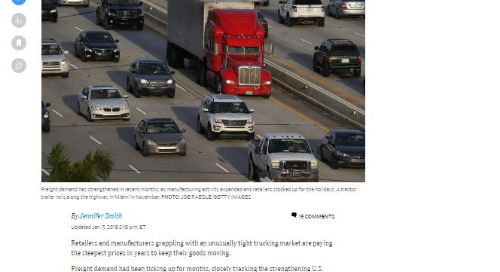 Tight trucking market has retailers paying higher trucking rates