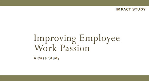 Improving Employee Work Passion
