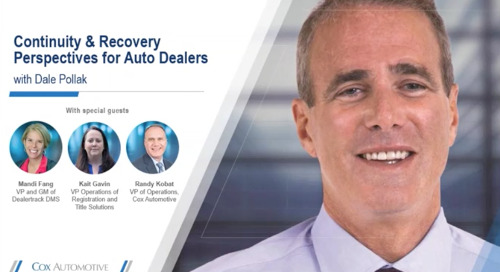 Leverage Your DMS and Become a Data-Driven Dealership: Continuity and Recovery Perspectives
