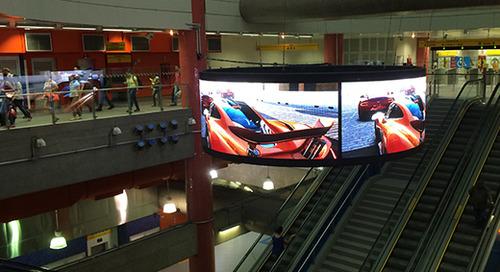 Terra Networks Adorns São Paulo Metro Line With Suspended Digital Ring