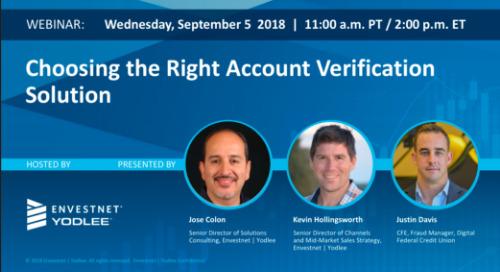 On-Demand Webinar: Choosing the Right Account Verification Solution