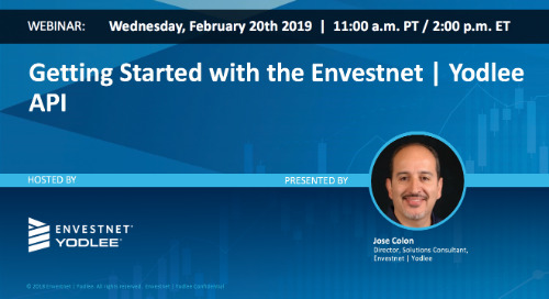On-Demand Webinar: Getting Started with the Envestnet | Yodlee API