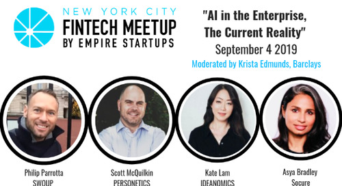 September NY FinTech Meetup: Panel AI in the Enterprise, The Current Reality