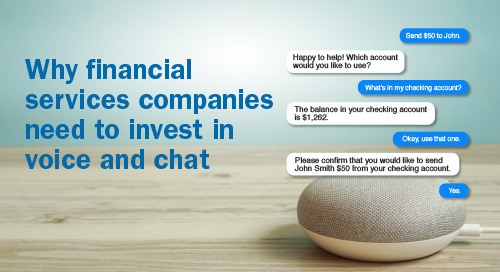 Upcoming Webinar: Why Financial Services Companies Need to Invest in Voice and Chat