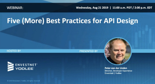 On-Demand Webinar: Five (More) Best Practices for API Design