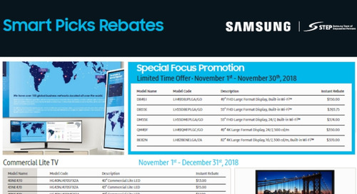 Samsung Smart Picks Rebates
