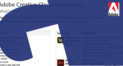Adobe Creative Cloud for business - What's new?