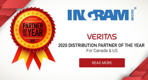 Ingram Micro is Veritas 2020 Distribution Partner of the Year for Canada & US