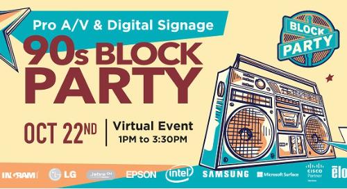 Recap: Pro A/V & Digital Signage 90's Block Party