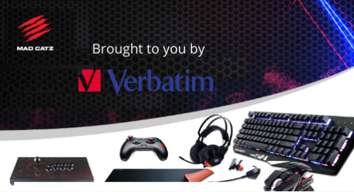 Up your game with Mad Catz R.A.T. 8+, brought to you by Verbatim