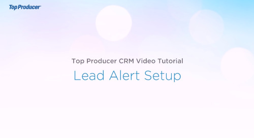 Video Tutorial: Lead Alert Setup