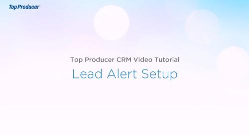 Video Tutorial: Lead Alert Setup