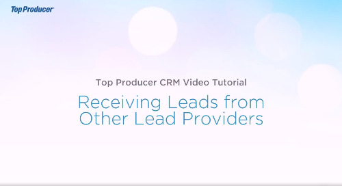 Video Tutorial: Receiving Leads from Other Providers