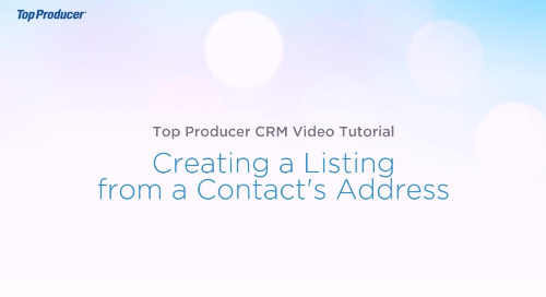 Video Tutorial: Create a Listing from a Contact's Address