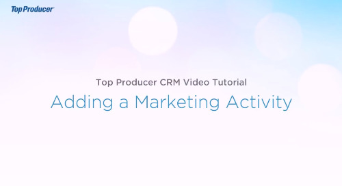 Video Tutorial: Adding a Marketing Activity