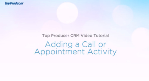 Video Tutorial: Add a Call or Appointment Activity