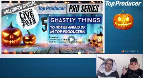 Pro Series: 5 Ghastly Things to Not Be Afraid of in Top Producer®