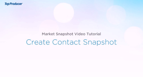 Video Tutorial: Create Contact Snapshot