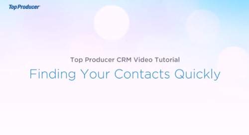 Video Tutorial: Finding Your Contacts Quickly