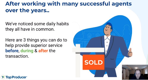 Live: 3 habits of successful real estate agents
