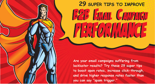 """Infographic: 29 """"Super"""" Tips to Improve B2B Email Performance"""