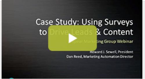 Webinar: Using Surveys & Marketo to Drive Leads & Content