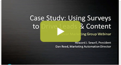 Using Surveys & Marketo to Drive Leads & Content