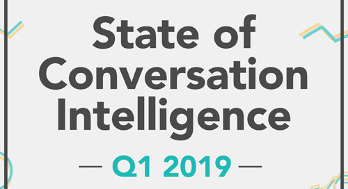 State of Conversation Intelligence Q1 2019