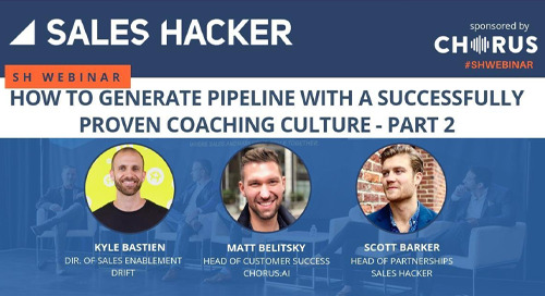 Generate Pipeline with a Proven Coaching Culture