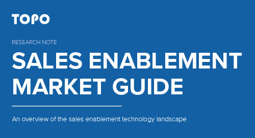 TOPO: Sales Enablement Market Guide