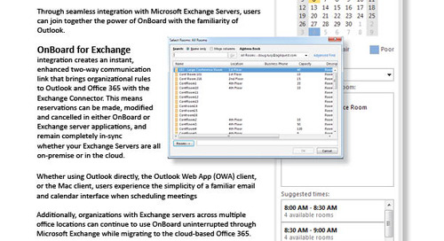 Microsoft Exchange Integration Keeps Bookings within Outlook