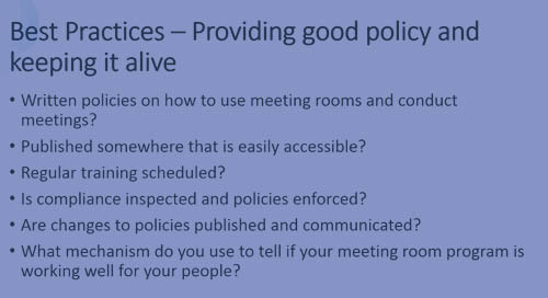 Tips and Tricks: Making Meetings & Conference Rooms Work(1/2)