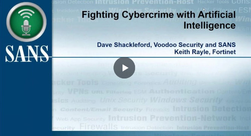 Webinar: Fighting Cybercrime with Artificial Intelligence