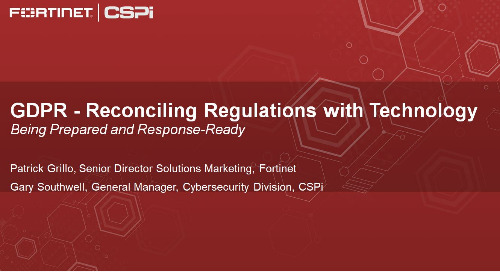 Webinar: GDPR - Reconciling Regulations with Technology