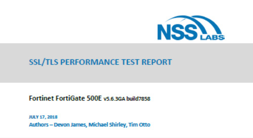 NSS Labs NGFW 2018 SSL/TLS Performance Test Report