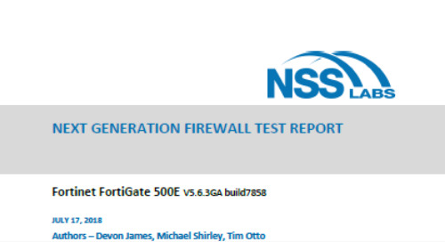NSS Labs 2018 NGFW Report