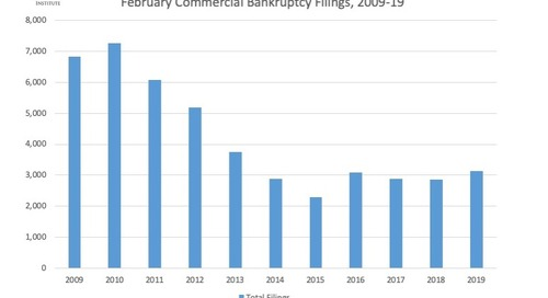 February Commercial Bankruptcy Filings, 2009-19