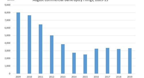 August Commercial Bankruptcy Filings 2009-19
