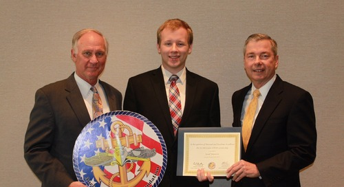 NEWS: Leidos Presents STEM Scholarship at Navy's Annual Anchor Scholarship Award Ceremony
