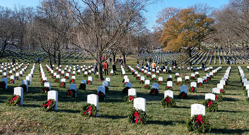 Remembrance wreaths honor the fallen