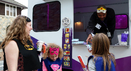 Photos: Leidos Scoop helps lift spirits at the Children's Inn