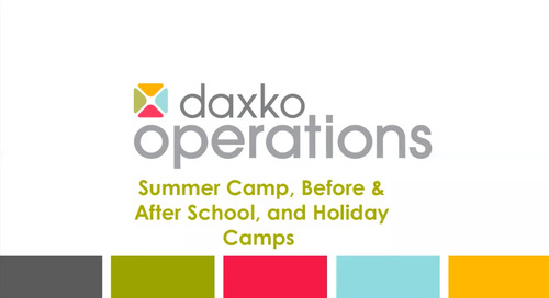 Daxko Operations: Child Care and Camp