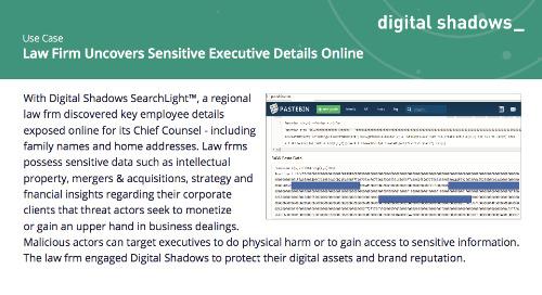 Law Firm Uncovers Sensitive Executive Details Online