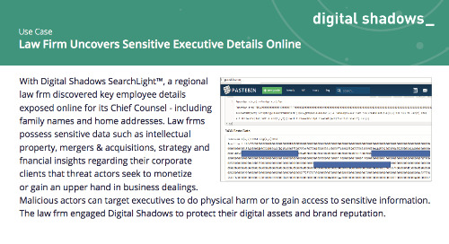 Law Firm Uncovers Sensitive Executive Details Online
